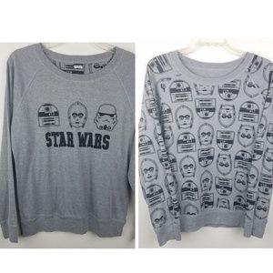 STAR WARS Graphic Crewneck Reversible Sweater